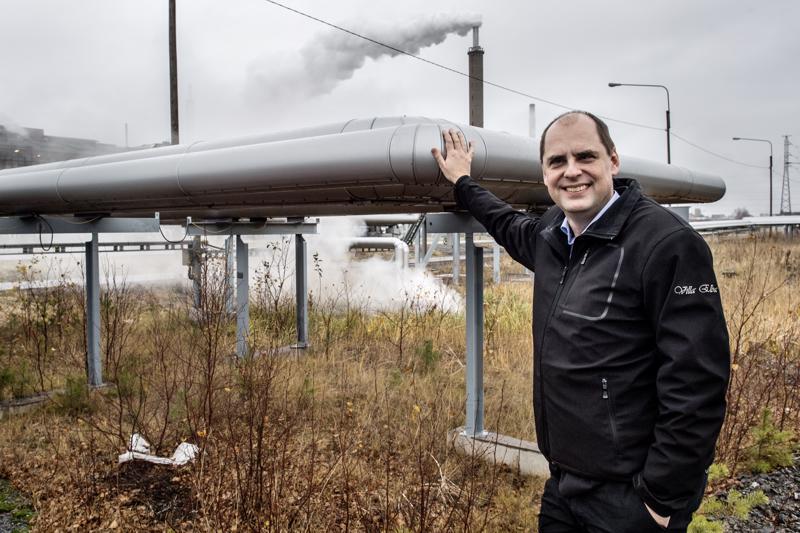 Jonne Sandberg on vakuuttunut Kokkolan suurteollisuusalueen sopivuudesta uudelle akkukomponenttitehtaalle.