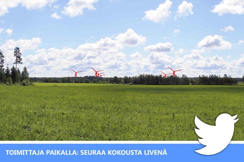 Seuraa livenä Twitterissä keskustelua Löytönevan tuulivoimapuistosta.