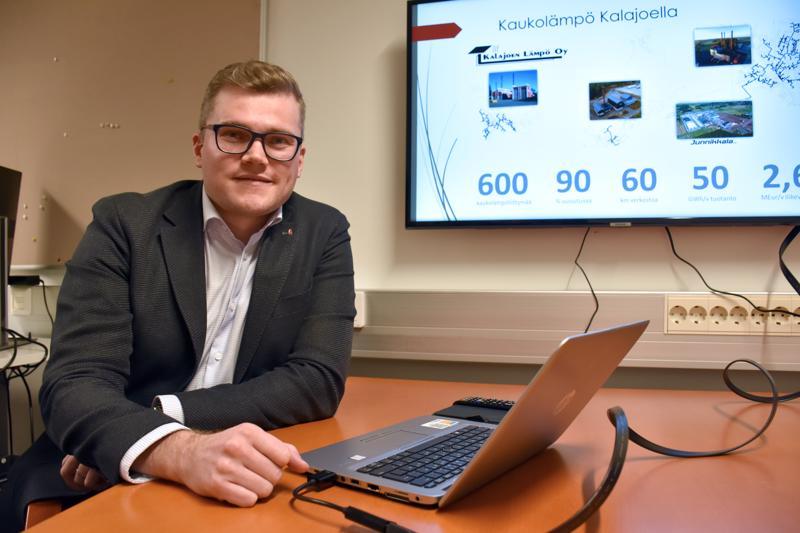 Jukka Talvi on Kalajoen Lämpö Oy:n uusi toimitusjohtaja. Valokuituhanke tulee osaksi lämpöyhtiön toimintaa.