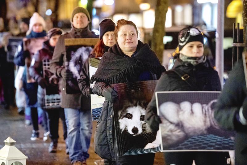Turkistarhauksen vastainen hiljainen mielenilmaus järjestettiin Kokkolassa vuosi sitten joulukuussa.