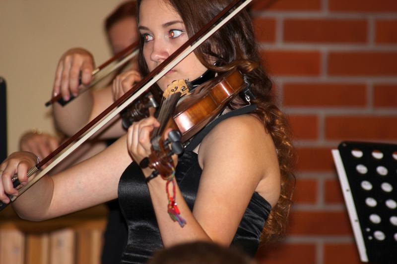Silja Kauppinen soitti viulua 3-vuotiaasta lukioon saakka. Nyt hän kaivaa soittimen esiin pyydettäessä.