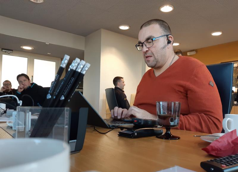 """KIP Servicen turvallisuuspäällikkö Jussi Lång oli yksi päivän """"juonen"""" rakentajista."""