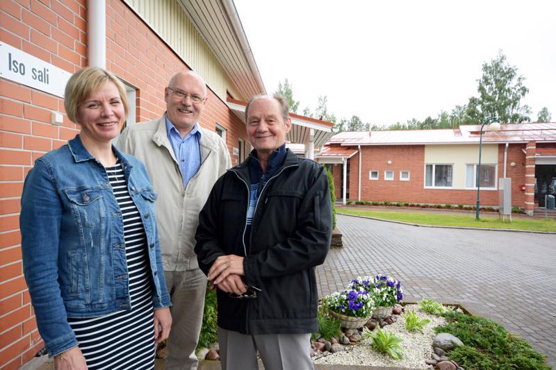 Anu Rautio, Veli Järviluoma ja Juhani Latvala.
