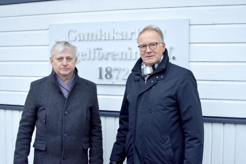 Jan Jansson ja Johan Nyberg ovat Gamlakarleby Segelföreningen jäseniä.