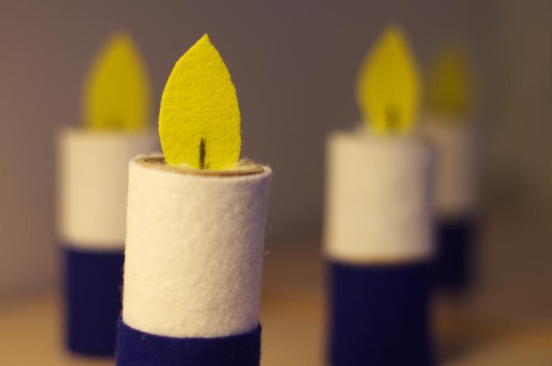 Nämä kynttilät on askarreltu Tarhin toimintakeskuksessa.