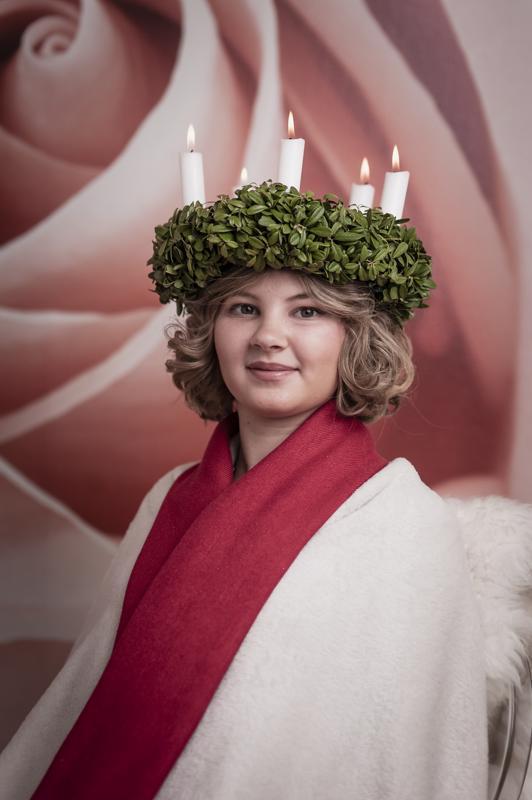 Elisa Kotisaari on Special Lucia 2018.