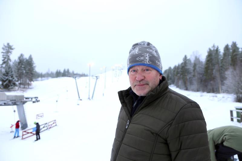 Puhkion rinne myytiin Tapio Varilalle. Arkistokuva talvelta 2018.