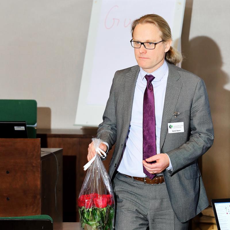 Lääkäriliiton puheenjohtajaksi valittiin helsinkiläinen psykiatrian erikoislääkäri Samuli Saarni.