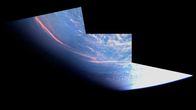 """Satelliitin 9.12. ottamat kuvat on koottu kollaasiksi. Tähän mennessä havaintoja on tehty satelliitin kameralla. Kuvien laatu tulee vielä olennaisesti paranemaan tästä ensimmäisestä """"virallisesta"""" kuvasta."""