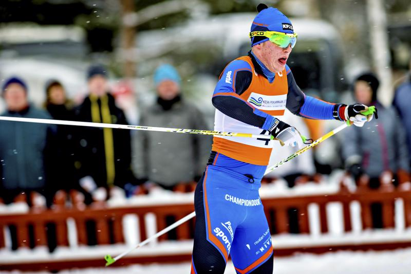 Lauri Gummerus on hiihtänyt maakuntaviestissä viimeksi tammikuussa 2016 Alavetelissä.