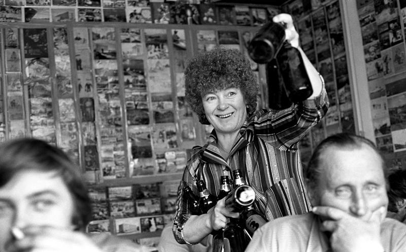 Sirkka Junttila Ranta-Baarissa Ykspihlajassa kesällä 1978.