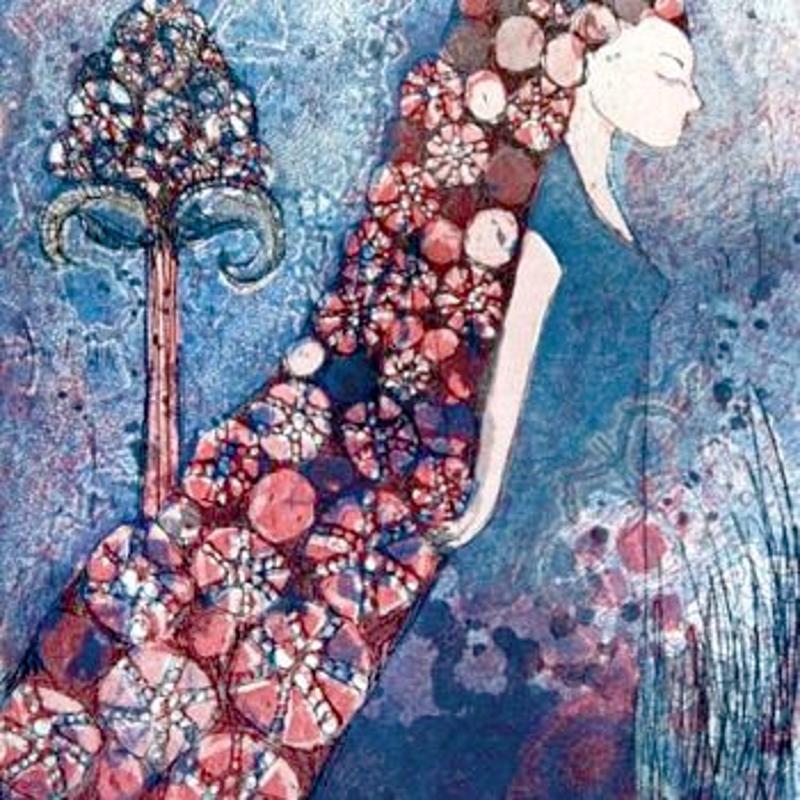 The Veil edustaa Mirkan tyyliä, josta hän on tullut tutuksi taidegraafikkona.