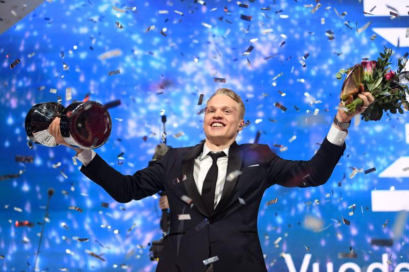 Iivo Niskanen tuuletti kolmannen kerran vuoden urheilijana.