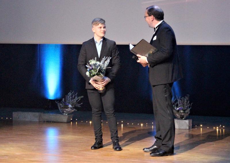 Vuoden junioriksi valittiin Ju-Jutsua harrastava 16-vuotias Linus Nyman.