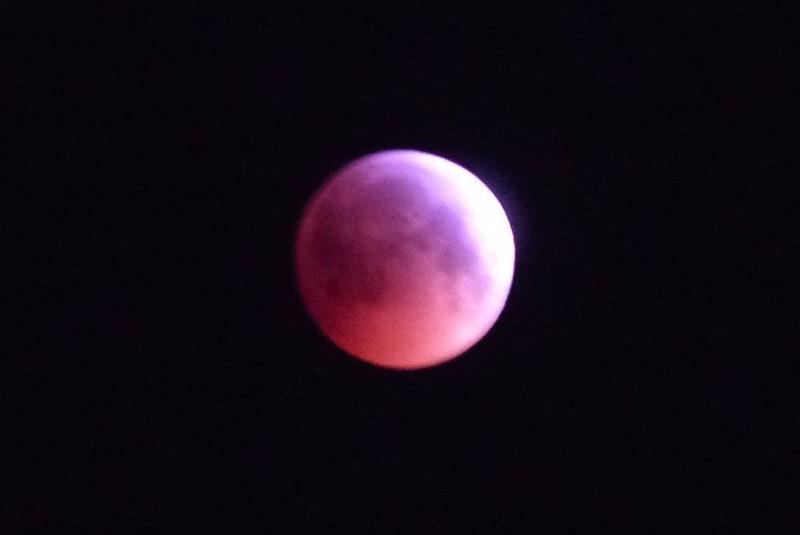 Kuun pimennys 21.1.2019 kello  06.42