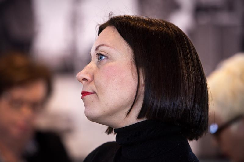 Työ- ja elinkeinoministeriön johtava asiantuntija Laura Lindeman puhui tiistaina Talent Coastline Kick Off -tapahtumassa Kokkolassa.