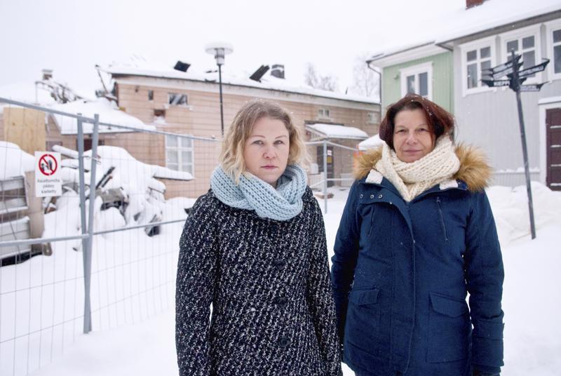 Kiepin museopedagogi Mari Mäenpää ja museoassistentti Merja Passoja.