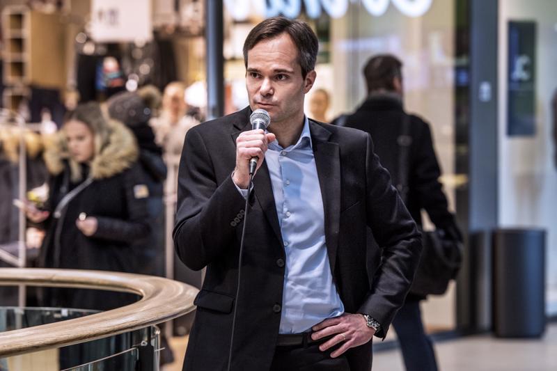 Sisäministeri Kai Mykkänen vieraili tänään Kokkolassa.
