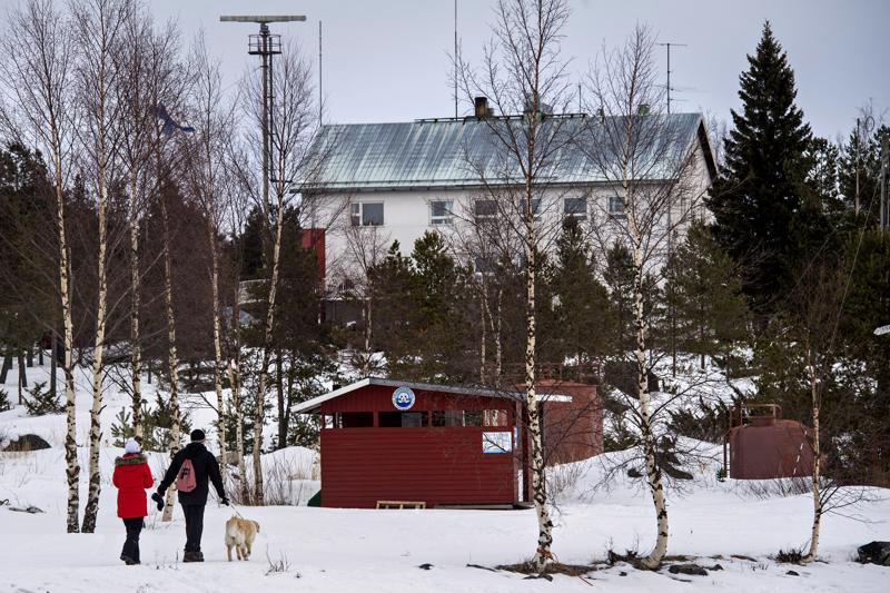 Mässkärin luotsiasema on hyvin suosittu retkeilykohde myös talvisin.