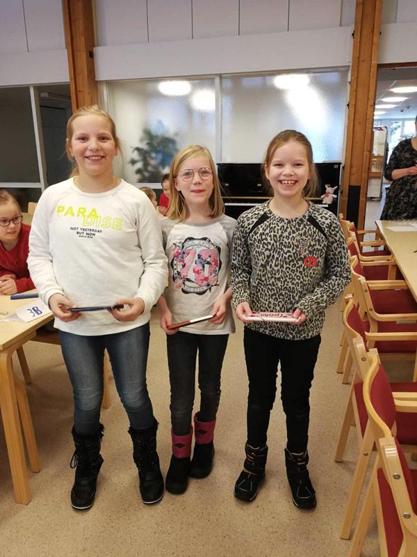 Voitokkaassa joukkueessa kilpailivat Alisa Saukko, Emmiina Tolonen ja Marianna Sorvari.