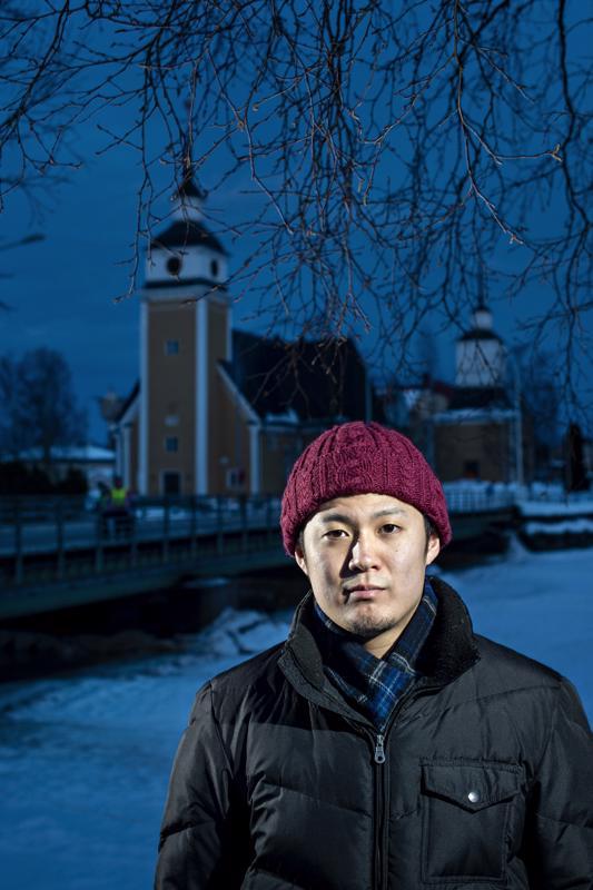 Yuto Osawa on viihtynyt Uudessakaarlepyyssä hyvin. Kaupunki on tiivis, etäisyydet lyhyitä, ja joka paikkaan pääsee polkupyörällä