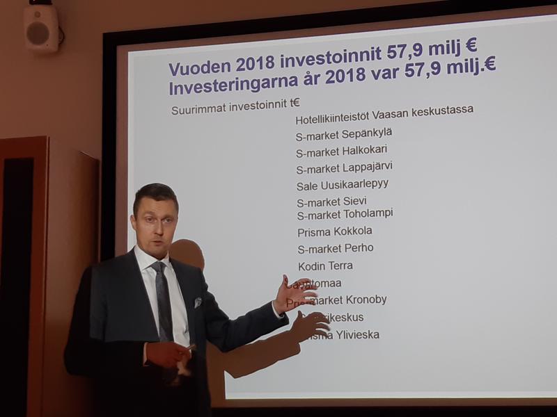 KPO:n tilinpäätösinfossa Kim Biskop esittelee viime vuoden suurimpia investointikohteita.
