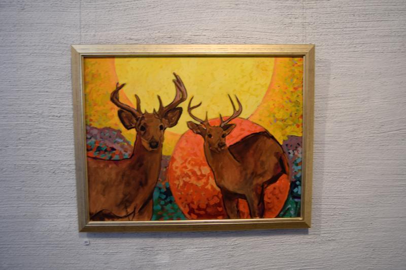 Kalevalan inspiroima teos. Se on uusimpia Olavi Tialan maalauksia ja vuodelta 2015.