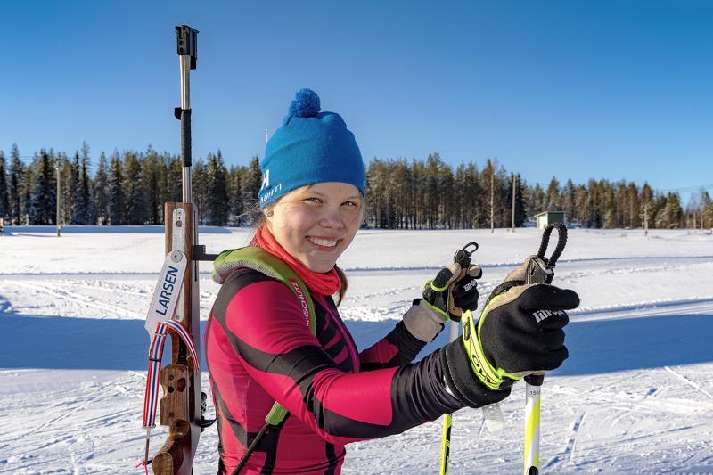 Viivi Jylänki on harrastanut puolitoista vuotta ampumahiihtoa.