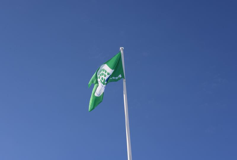 Vihreä lippu on iso tunnustus päiväkodin tekemälle työlle.