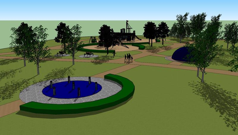 Puistoon tulee myös elektroninen leikkiväline.