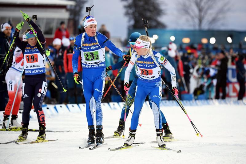 Tero Seppälä lähetti Kaisa Mäkäräisen parisekaviestin kolmannelle osuudelle.