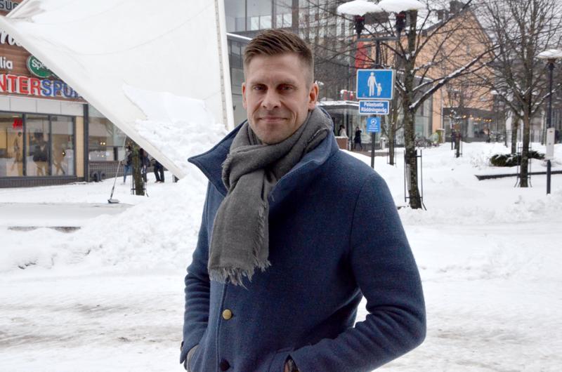 Juha Reini käy Kokkolassa useita kertoja vuodessa.