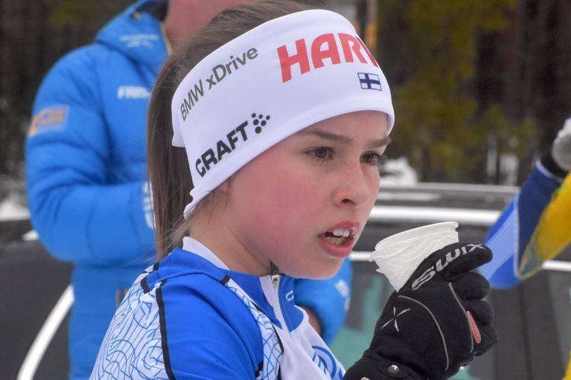 Pietarsaarelainen Rebecca Sandnäs oli lyömätön maaottelussa.