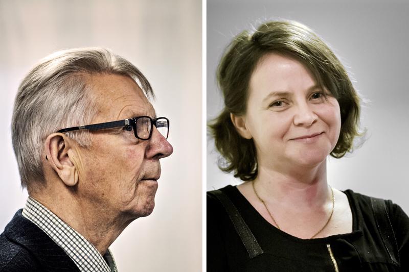 Bjarne Kallis kokoomuksesta toivoo kolmen suuren puolueen hallitusta. Mari Kerola keskustasta luottaisi punamultaan.