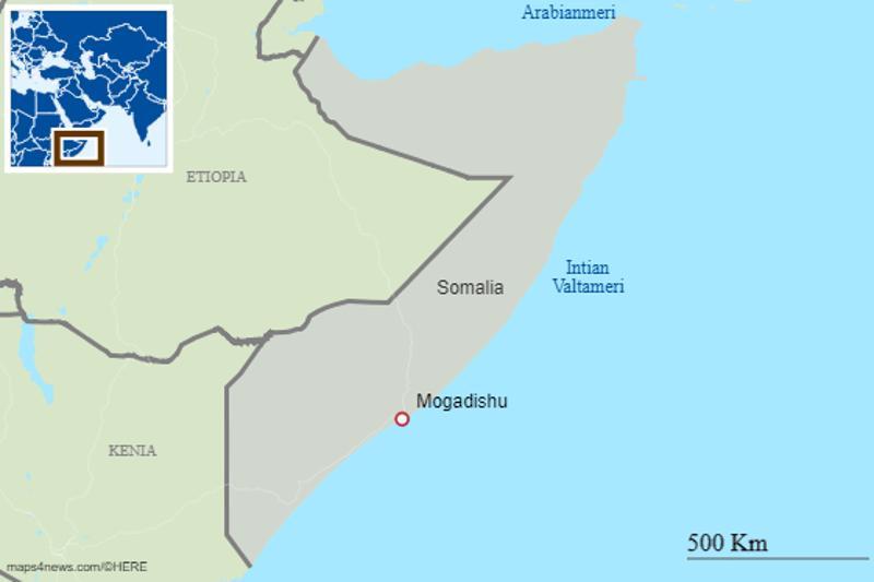 Itä-Afrikassa sijaitseva Somalia on pitkään kärsinyt ääri-islamistien aiheuttamasta väkivallasta.