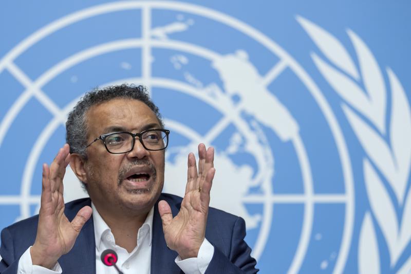 WHO:n johtaja Tedros Adhanom Ghebreyesus kertoi kaksi viikkoa sitten järjestön toimista ebolan leviämisen ehkäisemiseksi Kongossa.