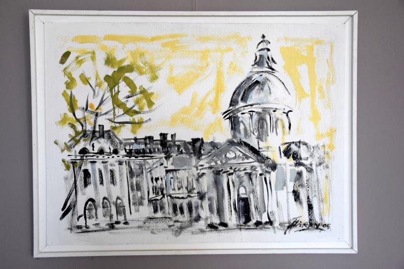 """Paris Franska Akademien"", akryyli vuodelta 2005."