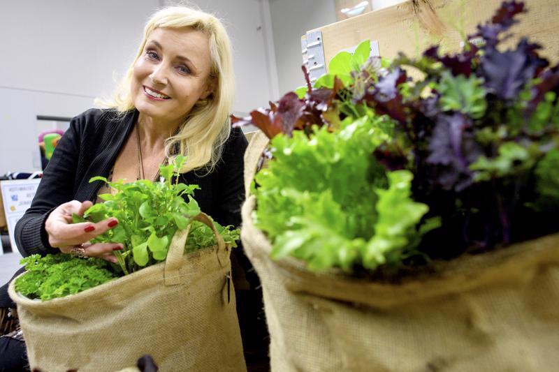 Laulajanakin tunnettu puutarhatoimittaja Sonja Lumme juontaa ja esitelmöi Kalajoen messuilla.