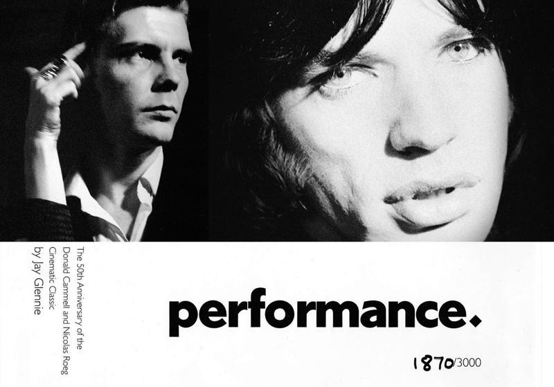 Performance-juhlakirjan kuvitusta. Mick Jagger jätti jälkensä filmille James Foxin kanssa vuonna 1968.