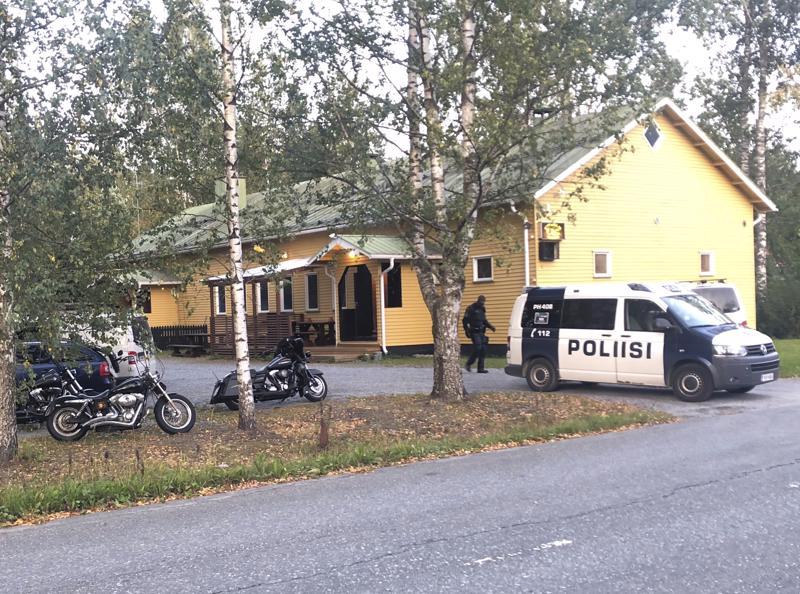 Kuvassa rikollisjärjestö Cannonballin Hämeenlinnan Käikälässä sijaitseva kerhotila.