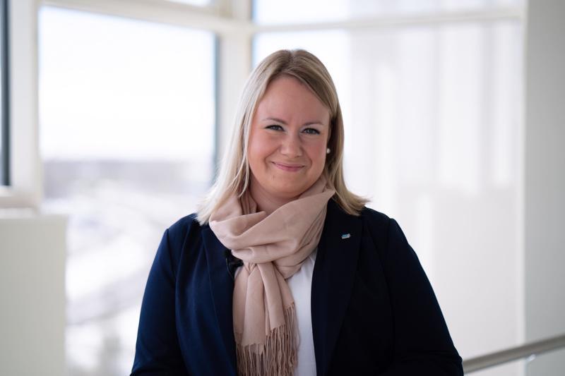 Kokkolan nuorkauppakamarin jäsen Anu Haapasalo.