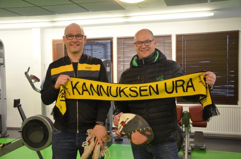 Mika Liedes ja Matti Laitinen ovat Uran kasvatteja. Laitisella on piikkarit ja räpylä edelleen valmiina, jos kutsu käy pelikentille.