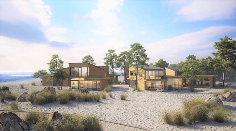 Marinan rakentaminen alkaa Dyynikylästä, jonne rakennetaan aluksi kuusi huvilaa.