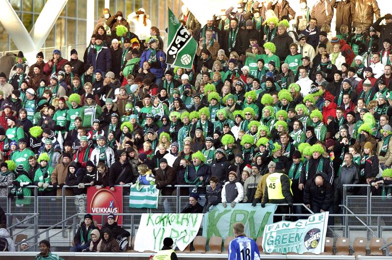 KPV pelasi edellisen kerran Suomen cupin finaalissa 13 vuotta sitten. Töölön stadionin katsomo vihersi marraskuun koleudessa.