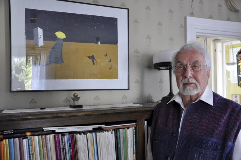 Veikko Väntäsen pojan Valtteri Väntäsen maalaus kuvittaa Syyskevät-kirjassa kannanottoja kulttuuriin ja koulutukseen.