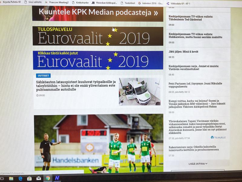 Eurovaalien tulospalvelu aukeaa kello 20. Keskipohjanmaa seuraa äänten kehittymistä sunnuntai-iltana verkossa.