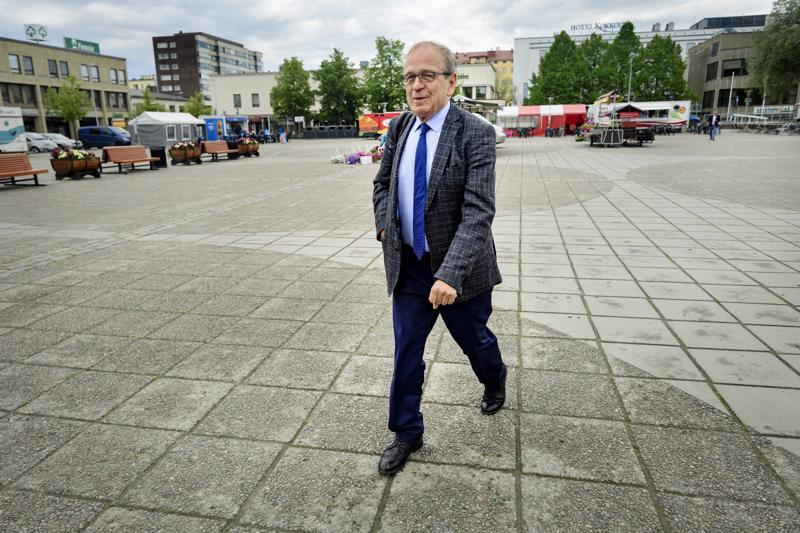 Erkki Liikanen Anders Chydenius -vapaakauppaseminaarissa kesäkuussa 2018 ollessaan Suomen Pankin pääjohtaja.
