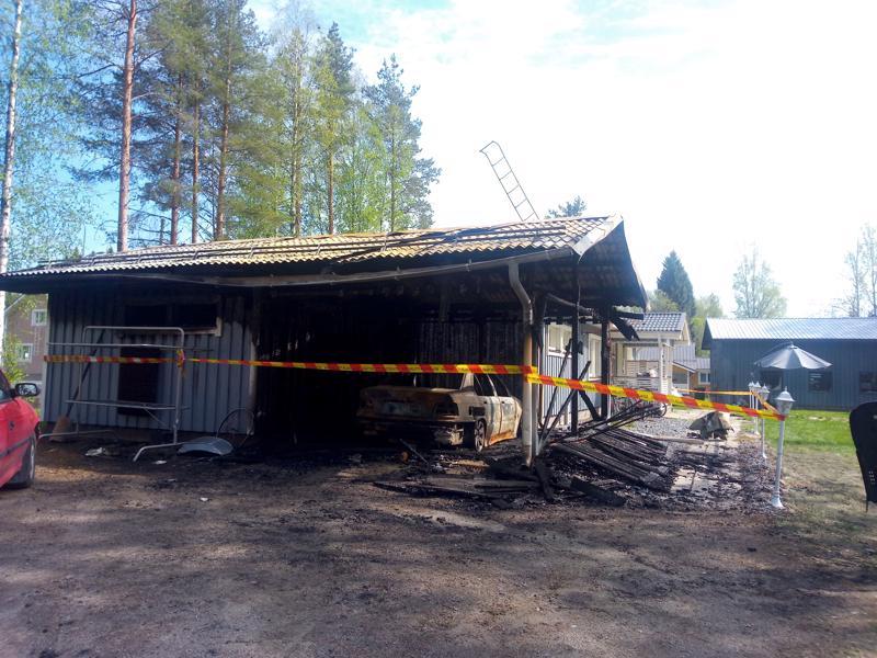 Omakotitalo Haapajärven Kaivokadulla kärsi mittavia vahinkoja.