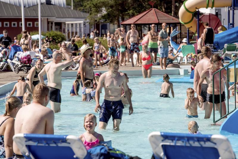 Viime kesänä helteistä todella saatiin nauttia myös Kalajoella vesipuisto JukuParkissa.