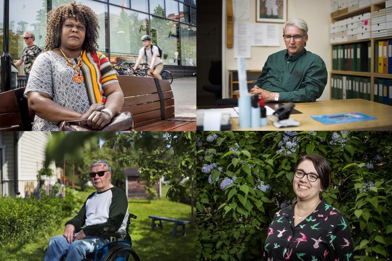 Natalina Baya, Kyösti Sorvoja, Arto Lappalainen  ja Mari Kentala kertoivat mielipiteensä Kokkolan tasa-arvoisuudesta, yhdenvertaisuudesta, saavutettavuudesta ja osallistumisesta.